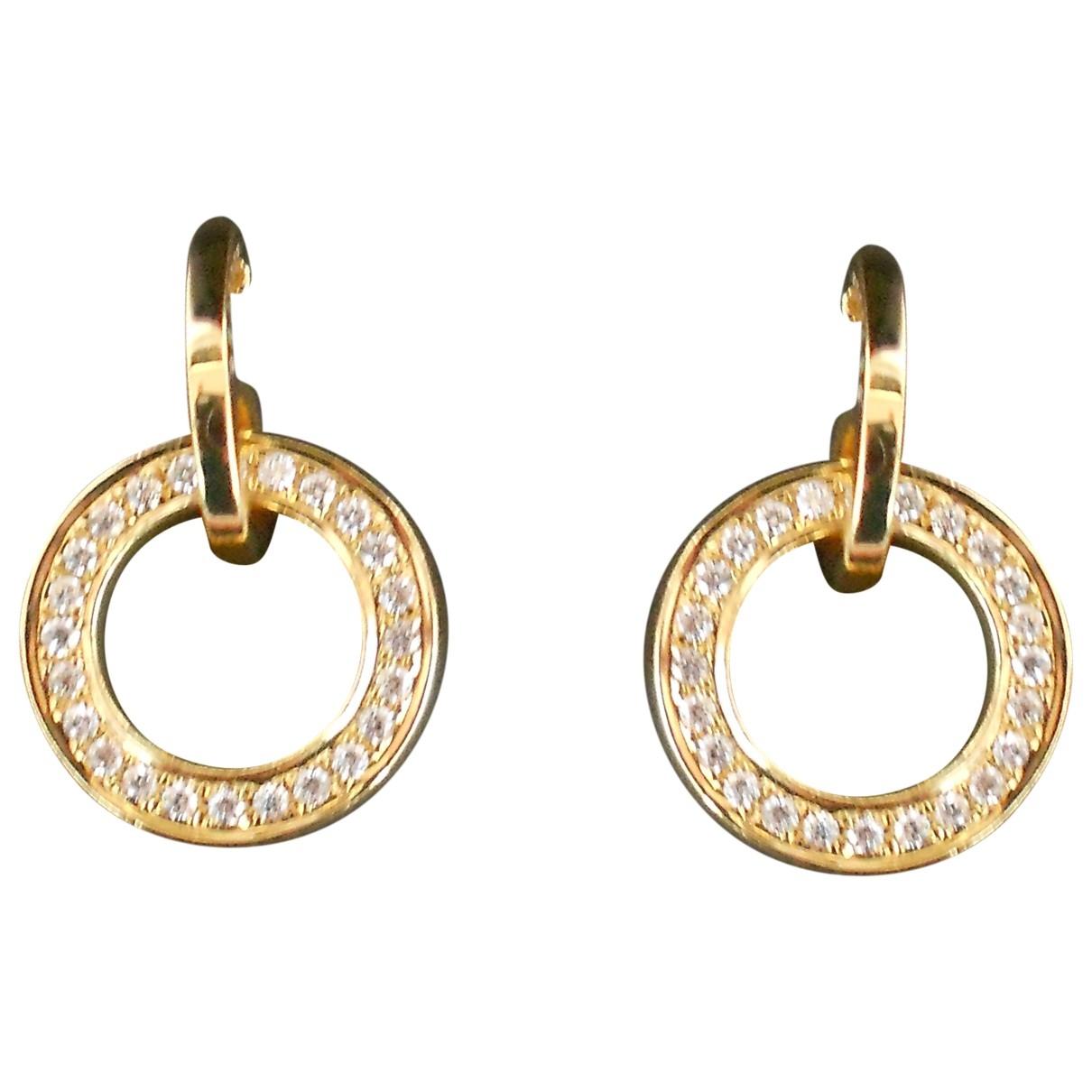 Boodles - Boucles doreilles   pour femme en or jaune - blanc
