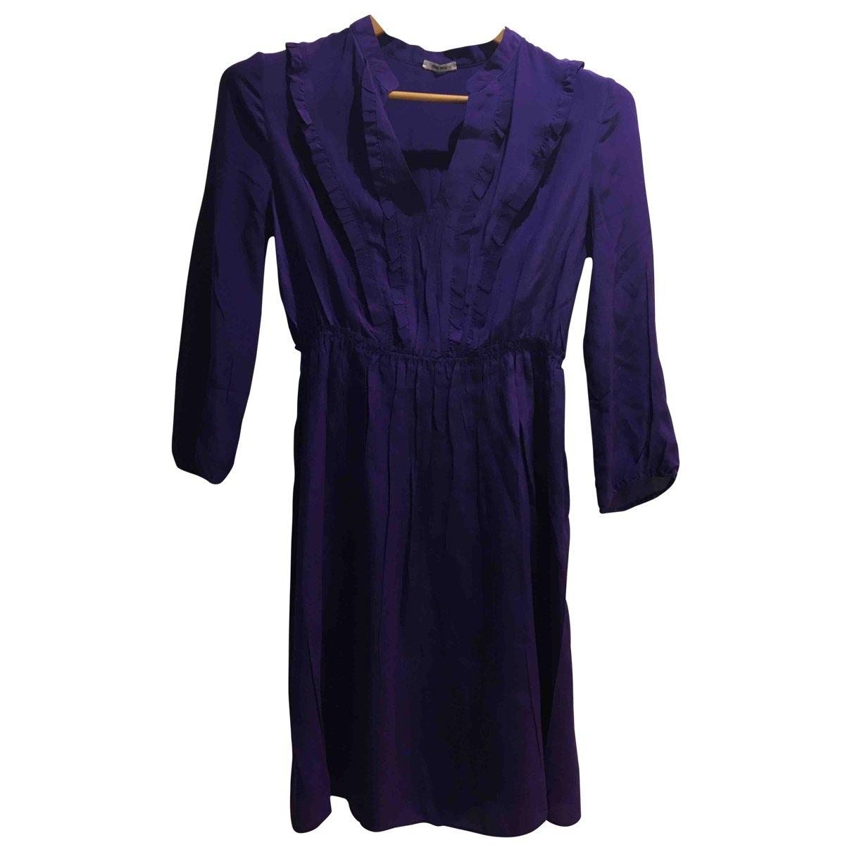 Miu Miu \N Purple Silk dress for Women 40 IT