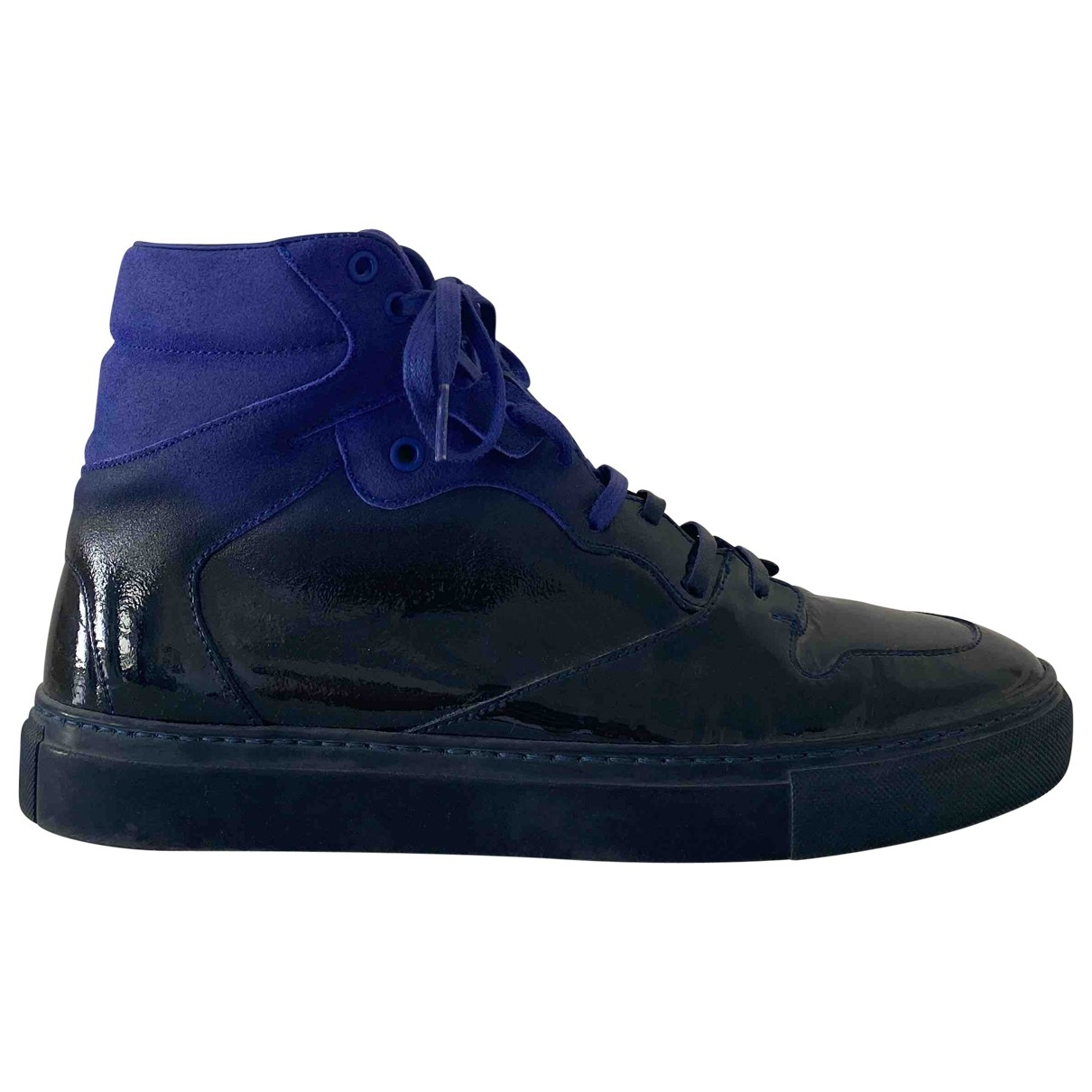 Balenciaga \N Sneakers in  Blau Leder