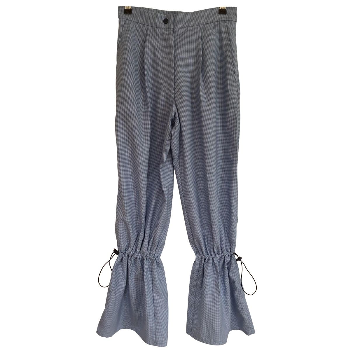 Thebe Magugu \N Blue Wool Trousers for Women S International