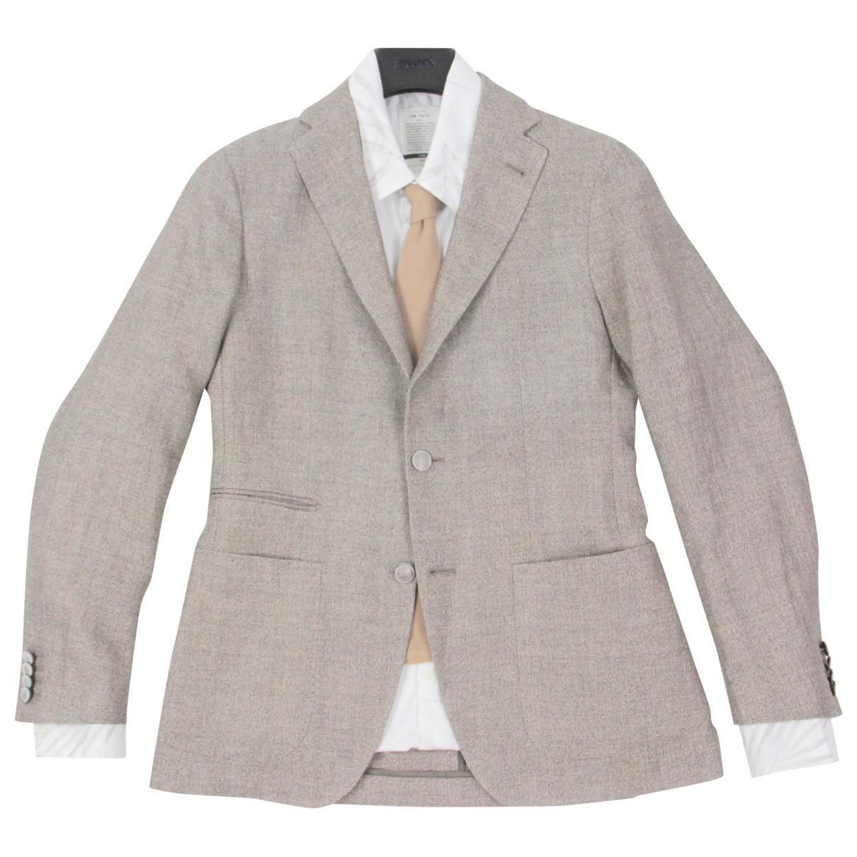 Tagliatore \N Brown Linen jacket  for Men 44 FR