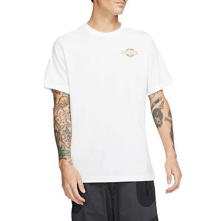 Nike Mens Crew Neck Short Sleeve T-Shirt, Medium , White