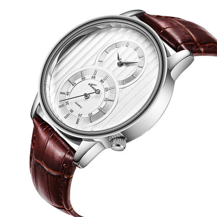 Sport Waterproof Men Waistwatch Multifunction Quartz Watch Leather Waist Watch