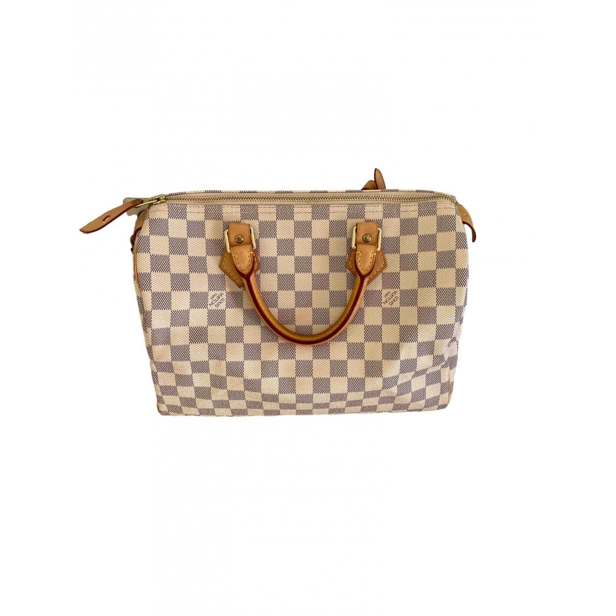Louis Vuitton Speedy Handtasche in  Beige Leinen