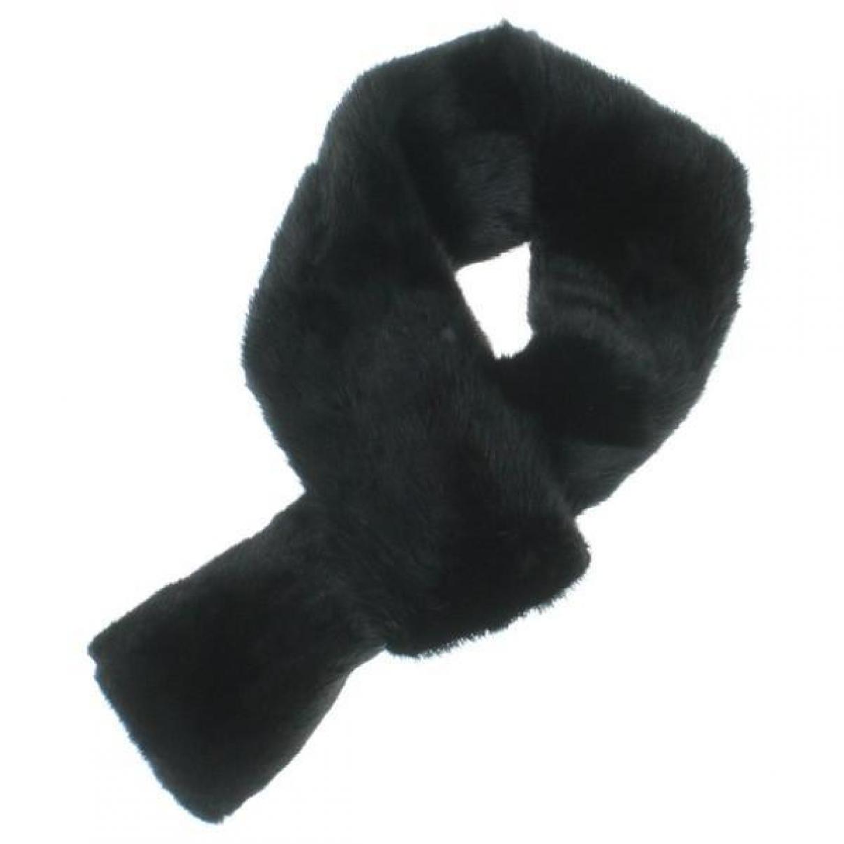 Jil Sander \N Black Mink scarf for Women \N