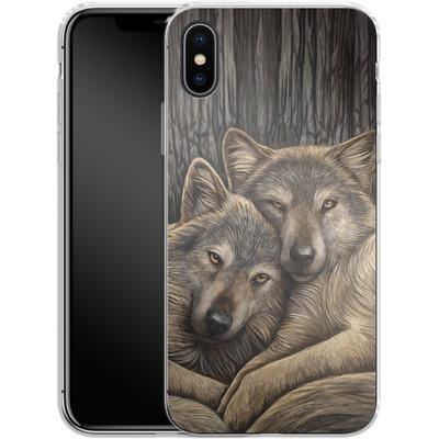 Apple iPhone X Silikon Handyhuelle - Loyal Companions von Lisa Parker