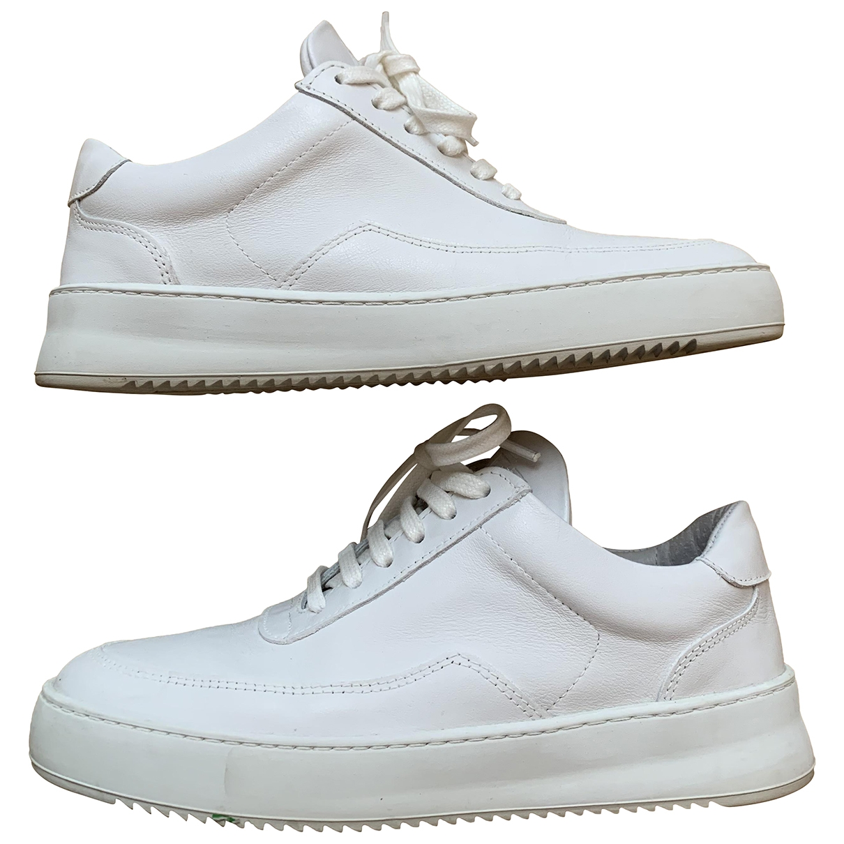 Filling Pieces \N White Leather Trainers for Women 36 EU