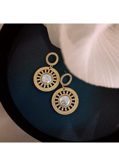 Mother's Day Gifts Pearl Detail Gold Metal Earring Set for Women - One Size