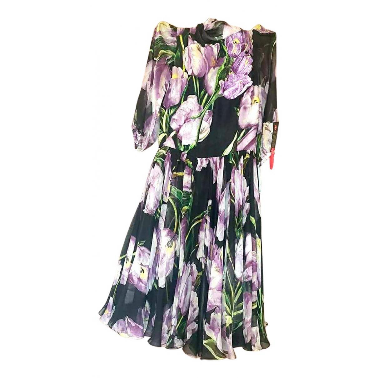 Dolce & Gabbana \N Black Silk dress for Women 38 IT