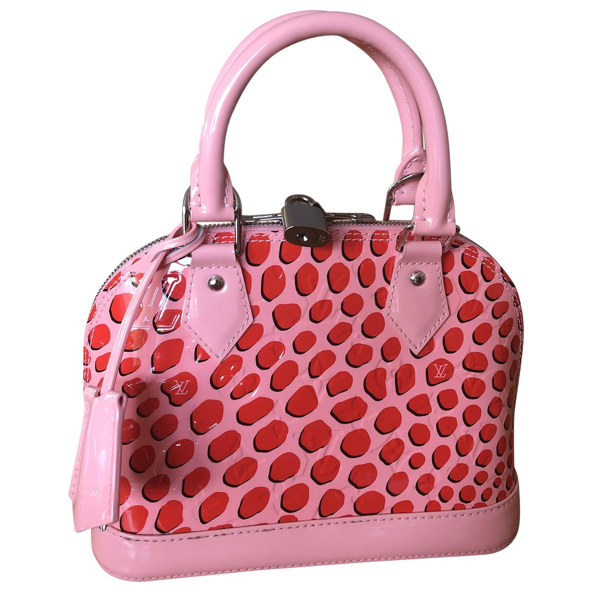 Louis Vuitton - Sac a main Alma BB pour femme en cuir verni - rose