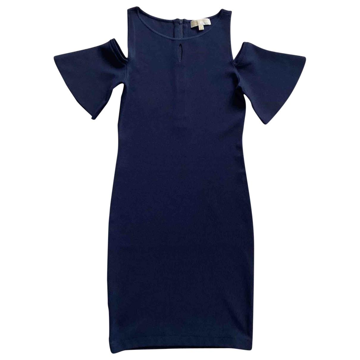 Michael Kors - Robe   pour femme en coton - bleu