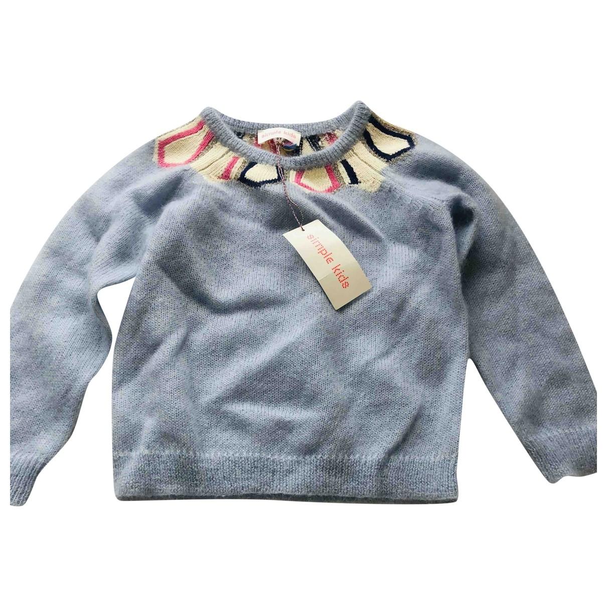 Simple Kids - Pull   pour enfant en laine - bleu