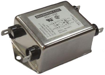 Roxburgh EMC , RES1 15A 250 V ac/dc, Chassis Mount RFI Filter, Tab, Single Phase