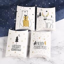 10 Stuecke zufaellige Verpackungsbox mit Weihnachten Muster