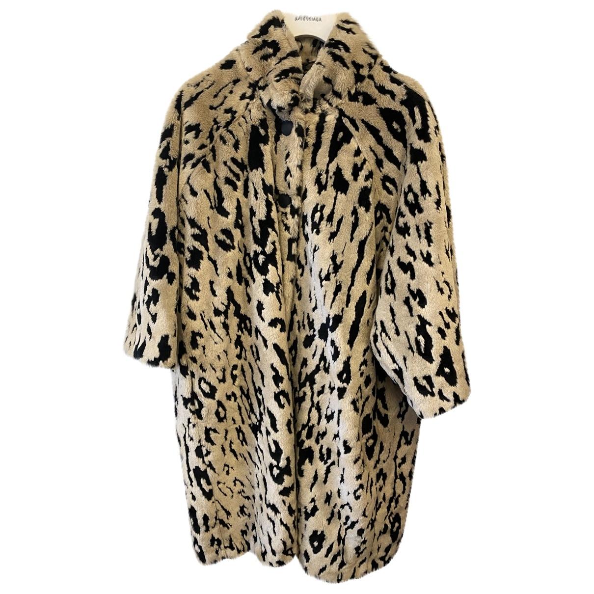 Balenciaga - Manteau   pour femme en fourrure synthetique - beige