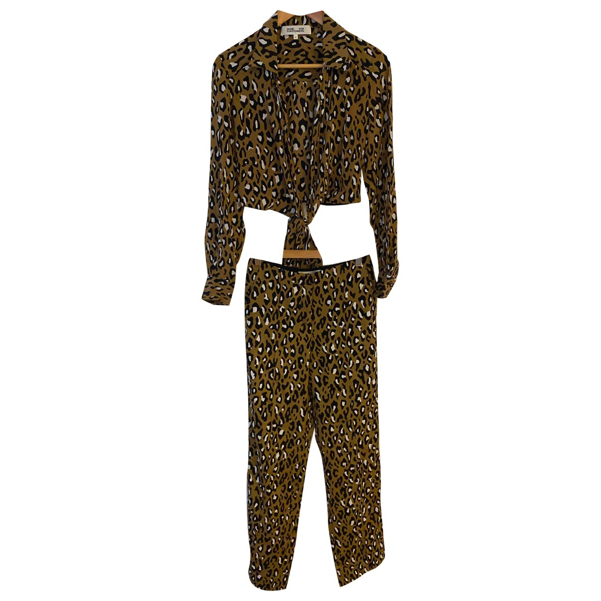 Diane Von Furstenberg N Brown Silk jumpsuit for Women 4 US