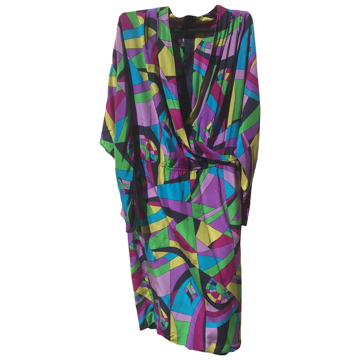 Louis Feraud \N Purple Silk dress for Women 38 FR