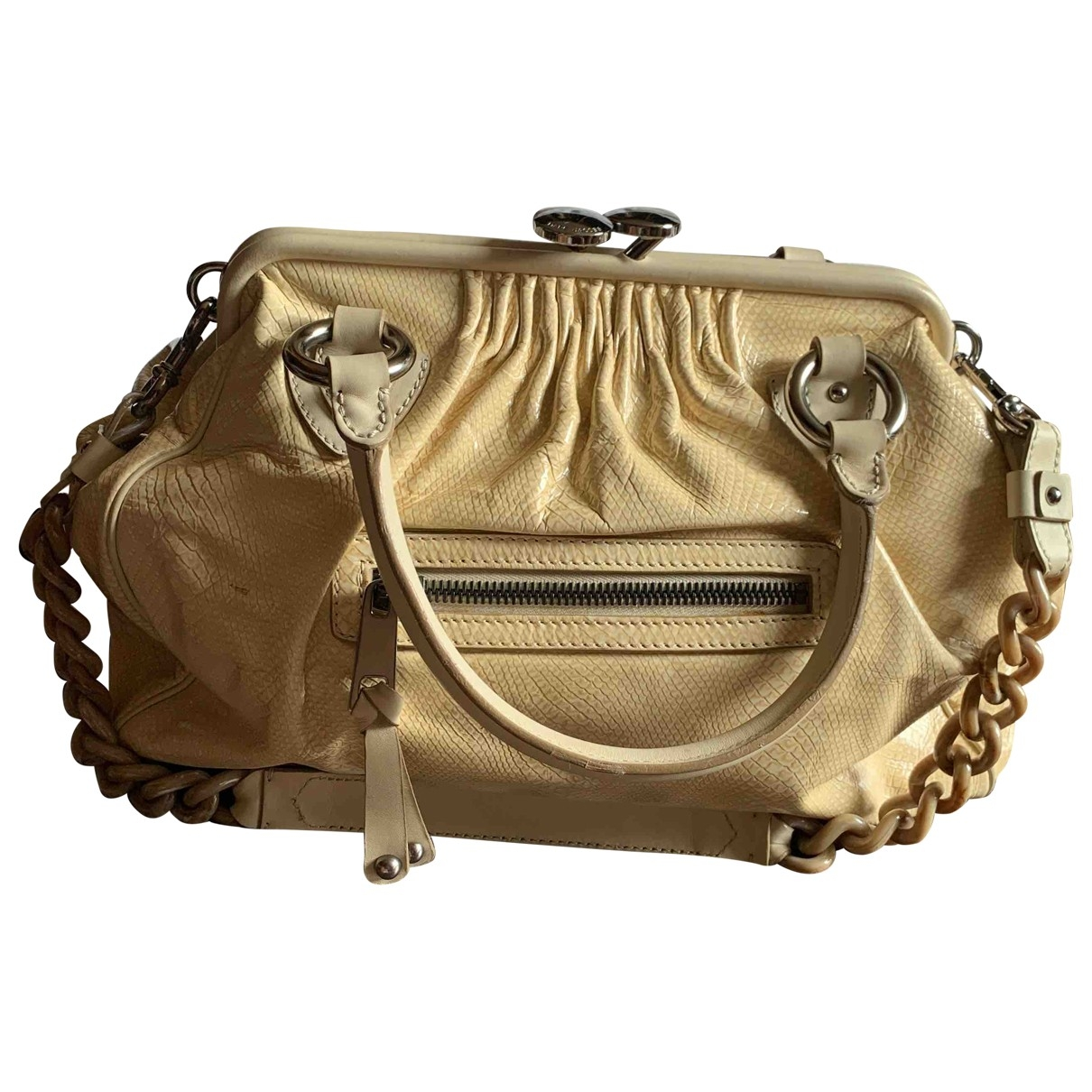 Marc Jacobs Stam Handtasche in  Beige Leder