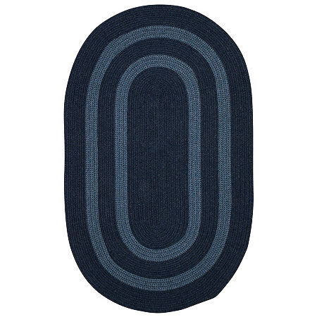 Colonial Mills Manhattan Reversible Braided Oval Rug, One Size , Blue