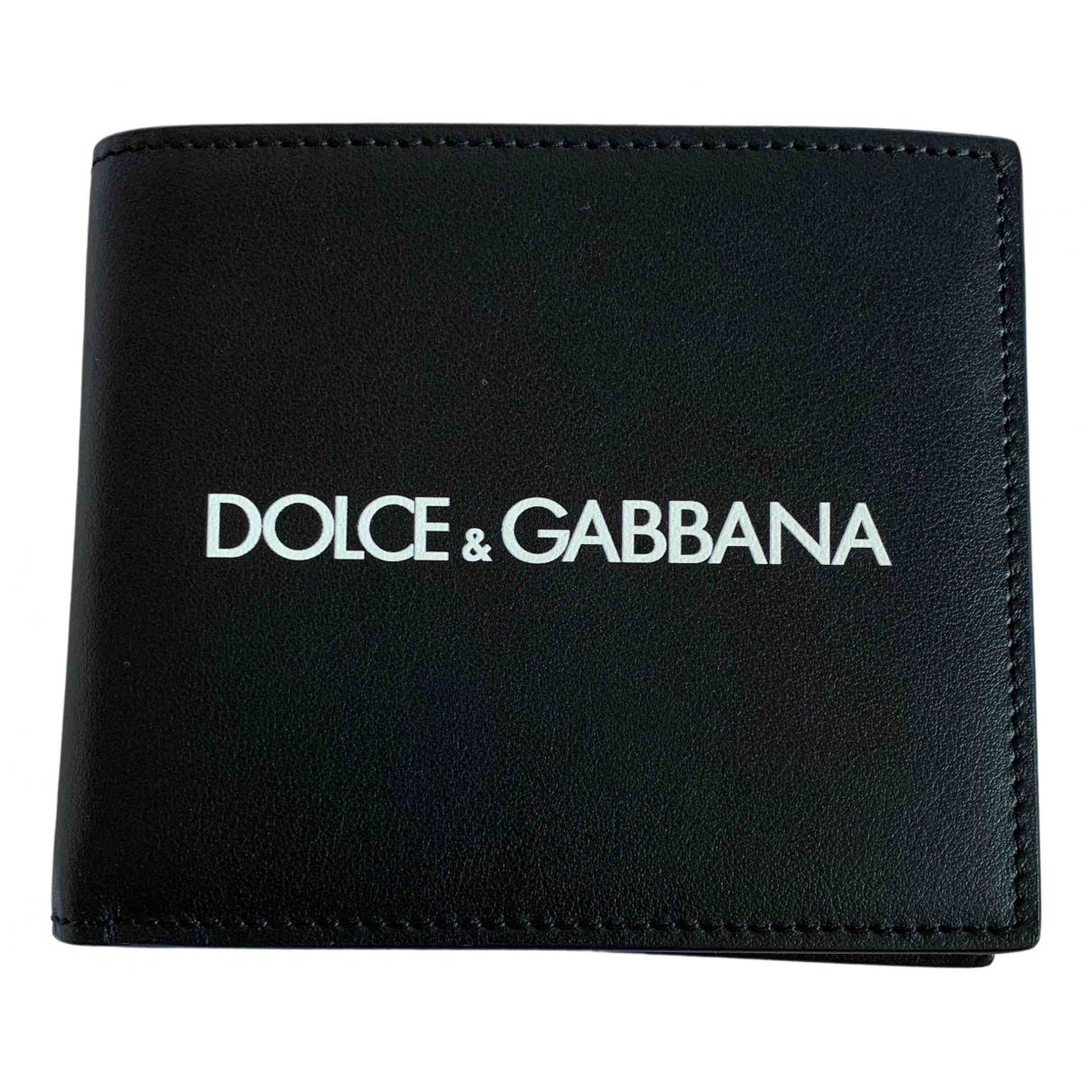 Dolce & Gabbana N Black Leather Small bag, wallet & cases for Men N