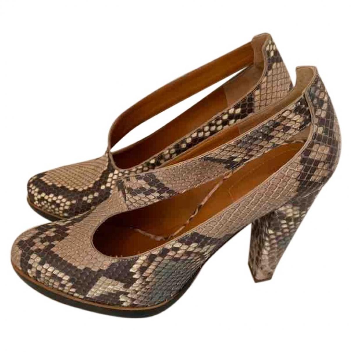 Chloé \N Beige Python Heels for Women 38.5 EU