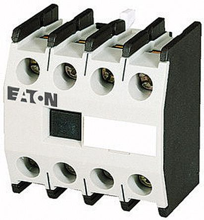 Eaton Auxiliary Contact - 4NO, 4 Contact, Front Mount, 4 A ac, 10 A dc