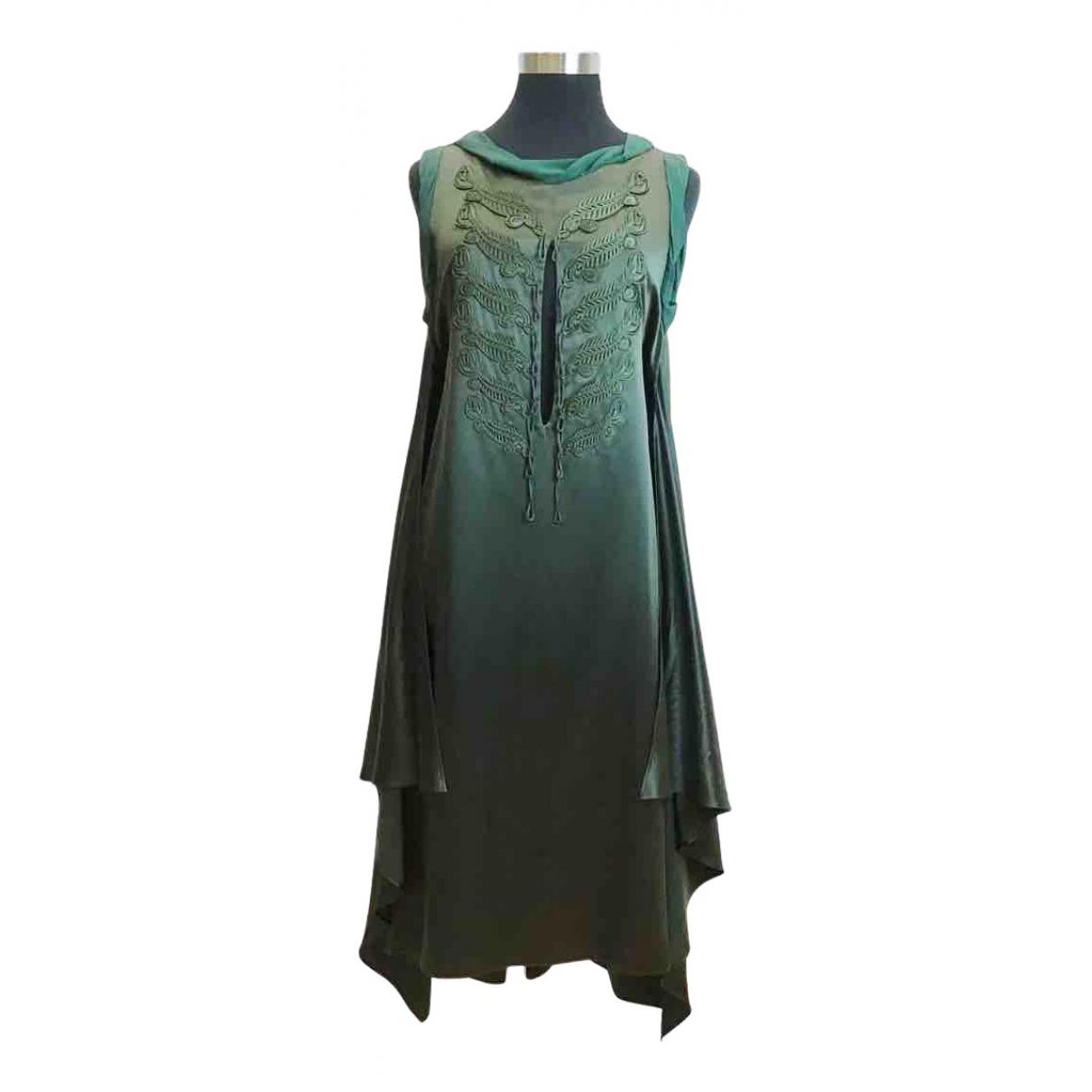 Jean Paul Gaultier N Green Silk dress for Women 42 FR