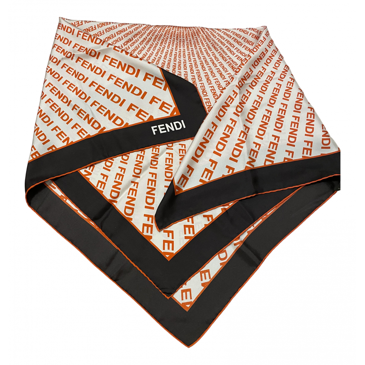 Fendi - Foulard   pour femme en soie - orange