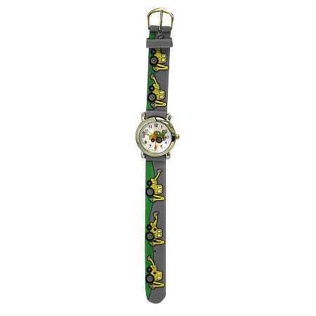 Olivia Pratt Tractor Unisex Adult Gray Strap Watch-17186, One Size , No Color Family