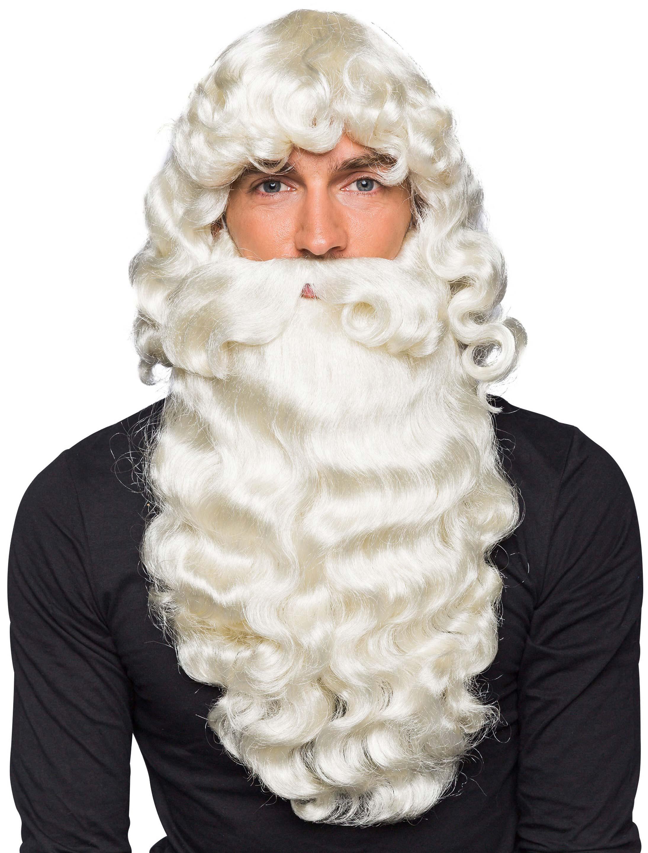 Kostuemzubehor Peruecke Nikolaus mit Bart weiss
