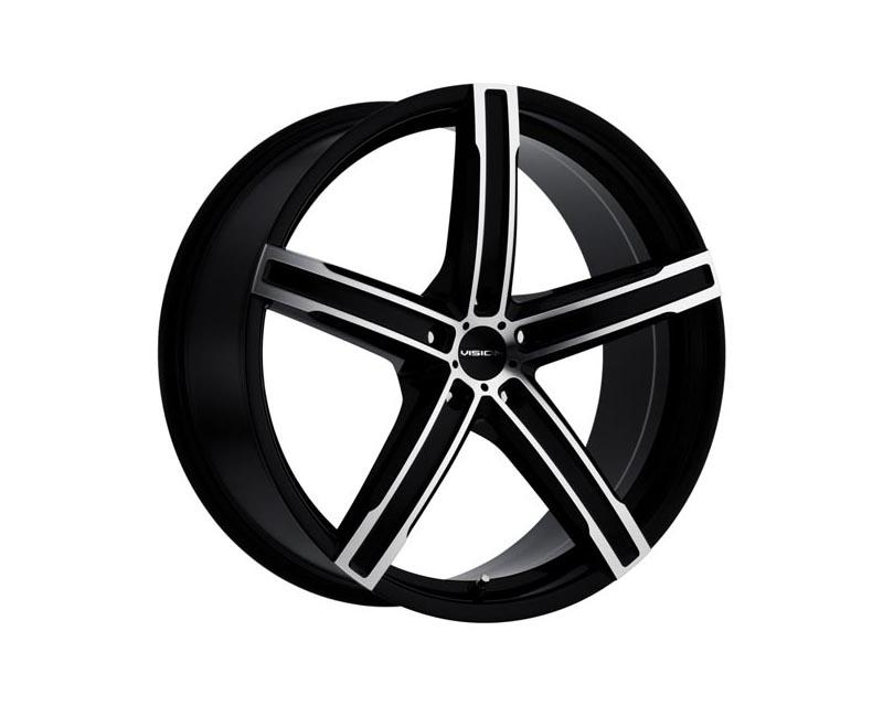 Vision Wheels 469-7745GBMF42 Boost Wheel 17x7 5x1120 42 BKGLMS Gloss Black Machined Face
