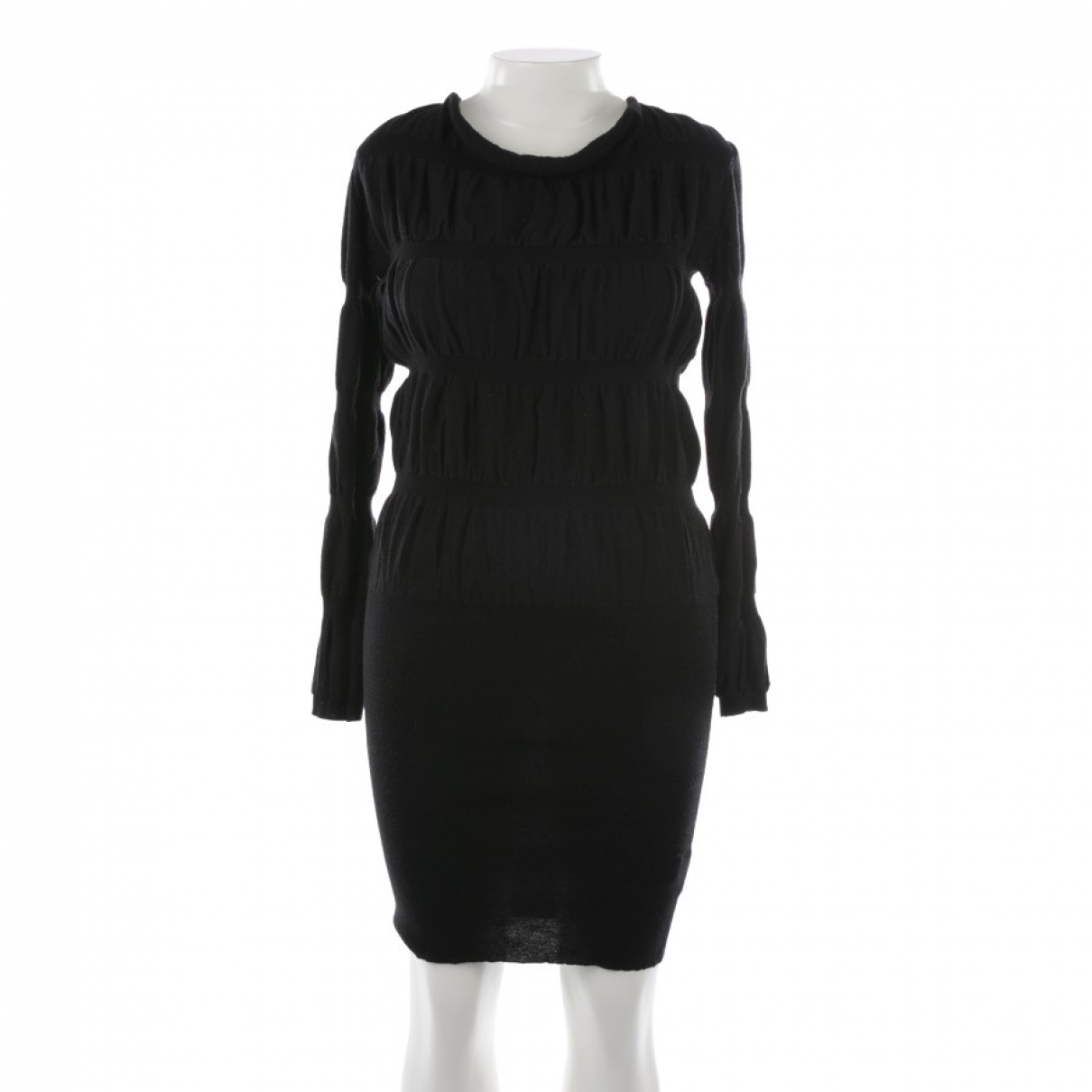 Maison Martin Margiela \N Kleid in  Schwarz Wolle