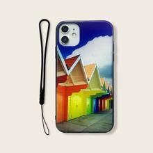 Funda de iphone con estampado de colores con tira