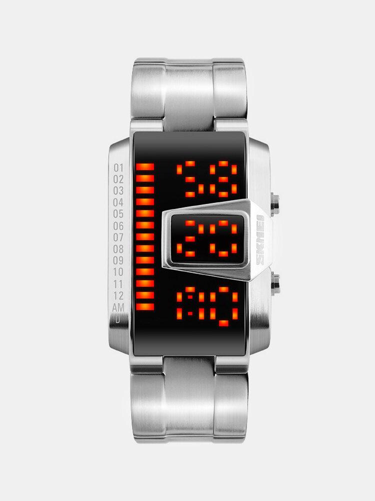 Stainless Steel Band Men Watch Luminous Waterproof LED Digital Watch