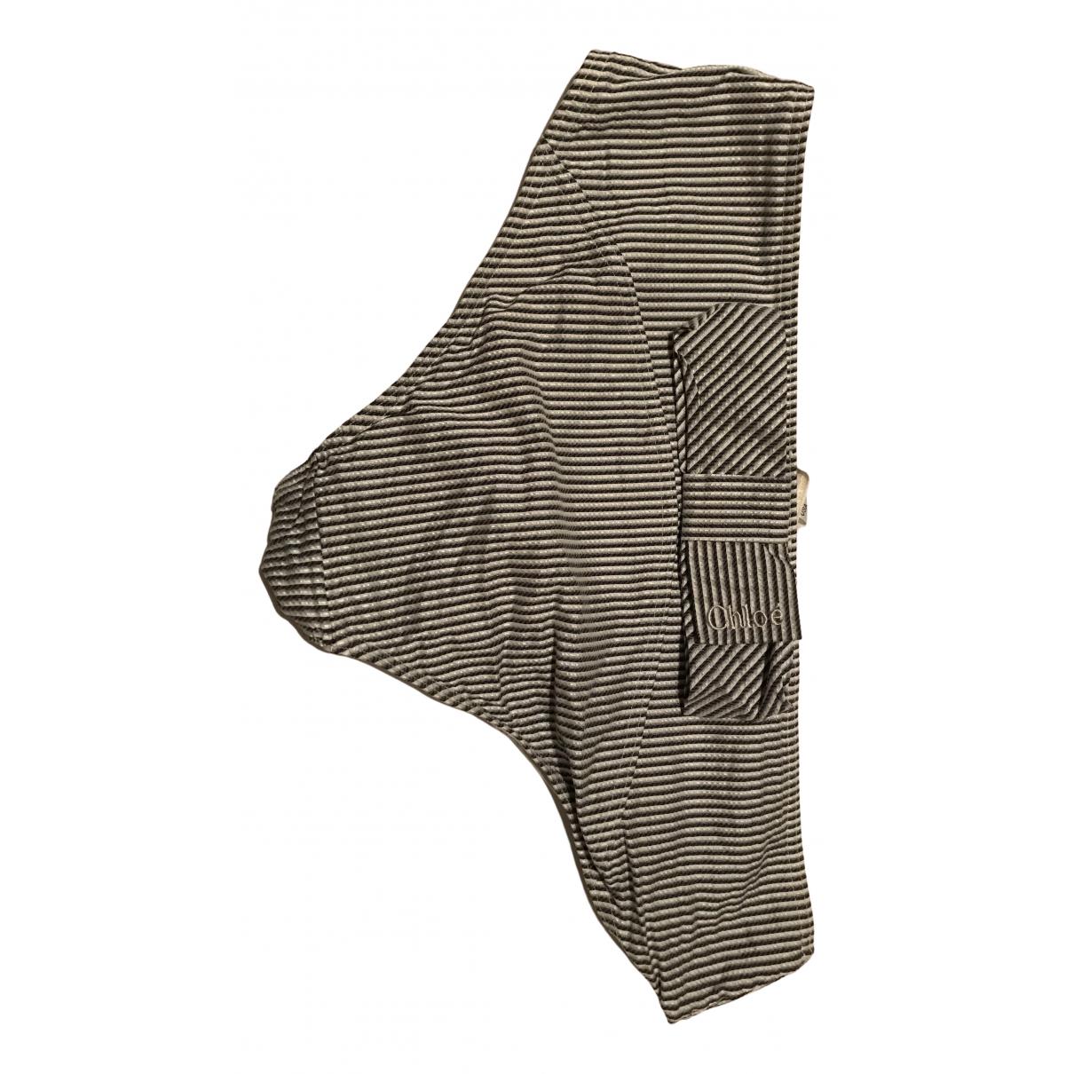 Chloé N Grey Cotton Swimwear for Women 46 IT