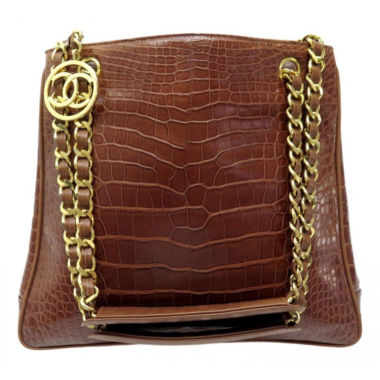 Chanel \N Handtasche in  Braun Exotenleder