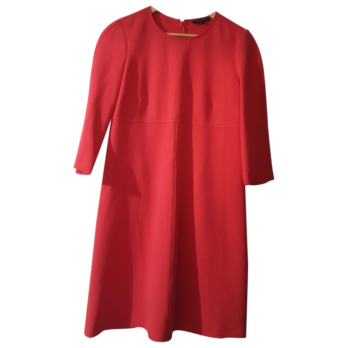 Tara Jarmon - Robe   pour femme en coton - elasthane - rose