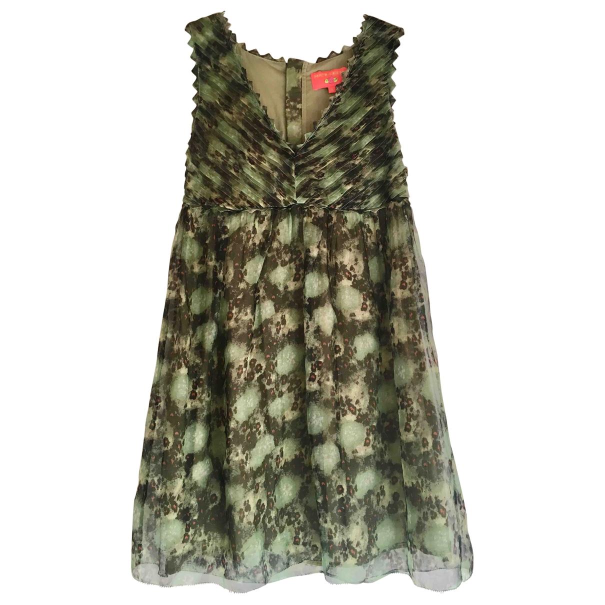 Manoush \N Green Silk dress for Women 38 FR
