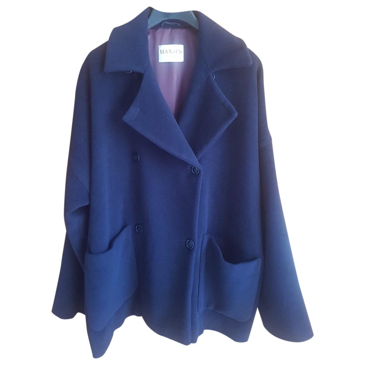 Max & Co \N Blue Wool coat for Women 40 FR