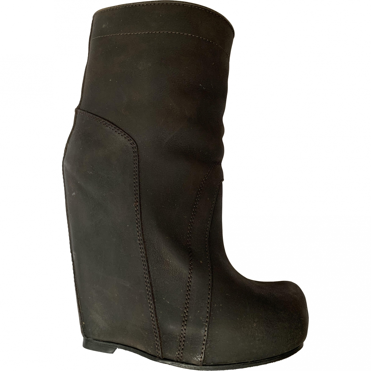 Rick Owens \N Brown Suede Ankle boots for Women 37 EU