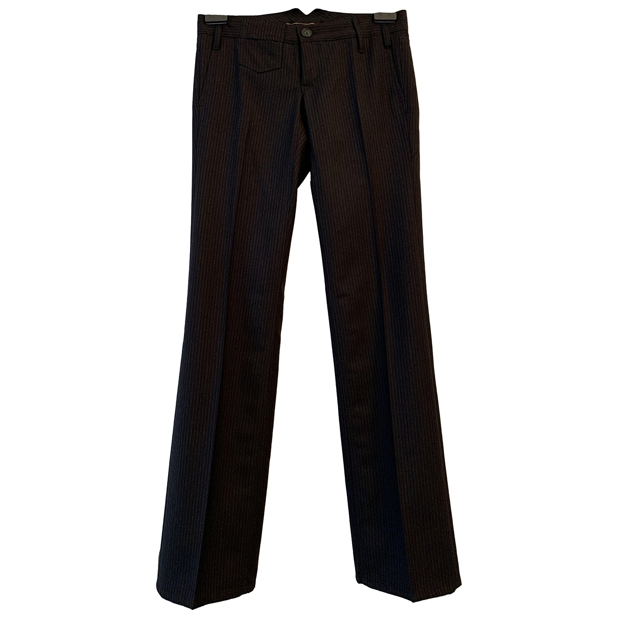 Non Signé / Unsigned \N Grey Wool Trousers for Women 34 FR