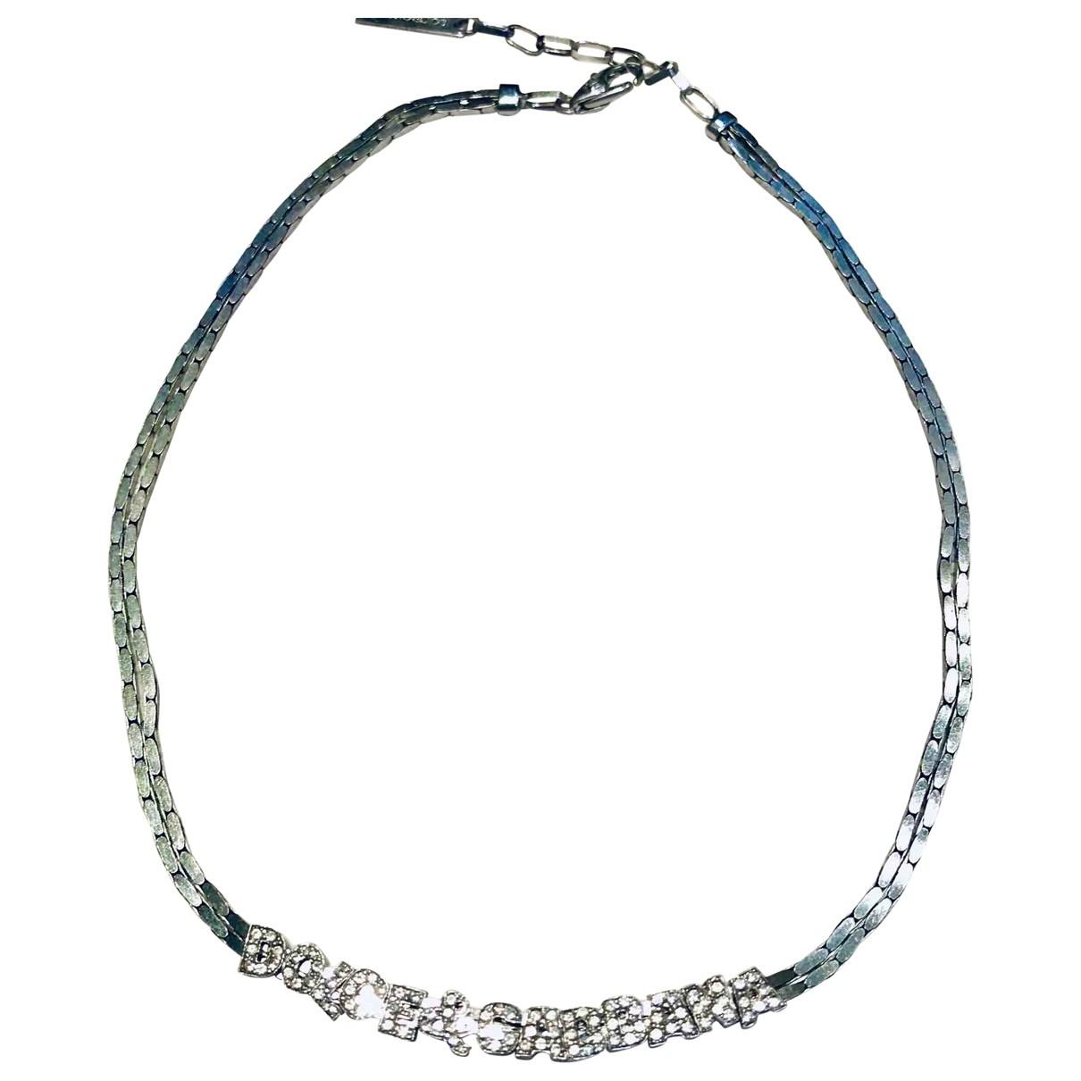 Dolce & Gabbana - Collier   pour femme en metal - argente