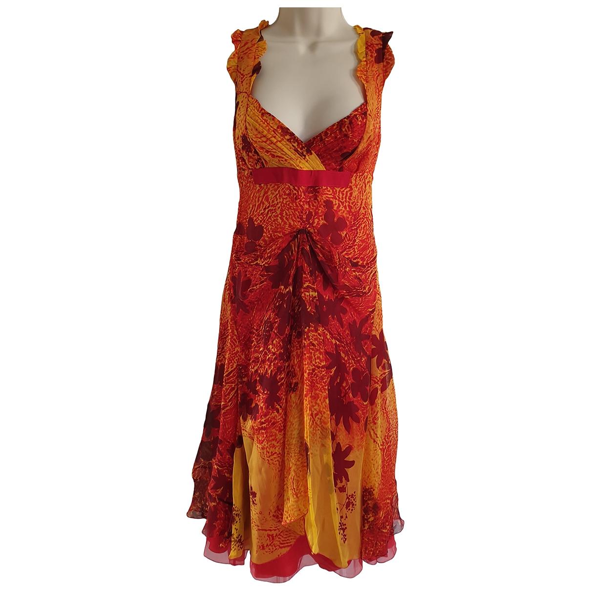 Celine \N Kleid in  Rot Seide