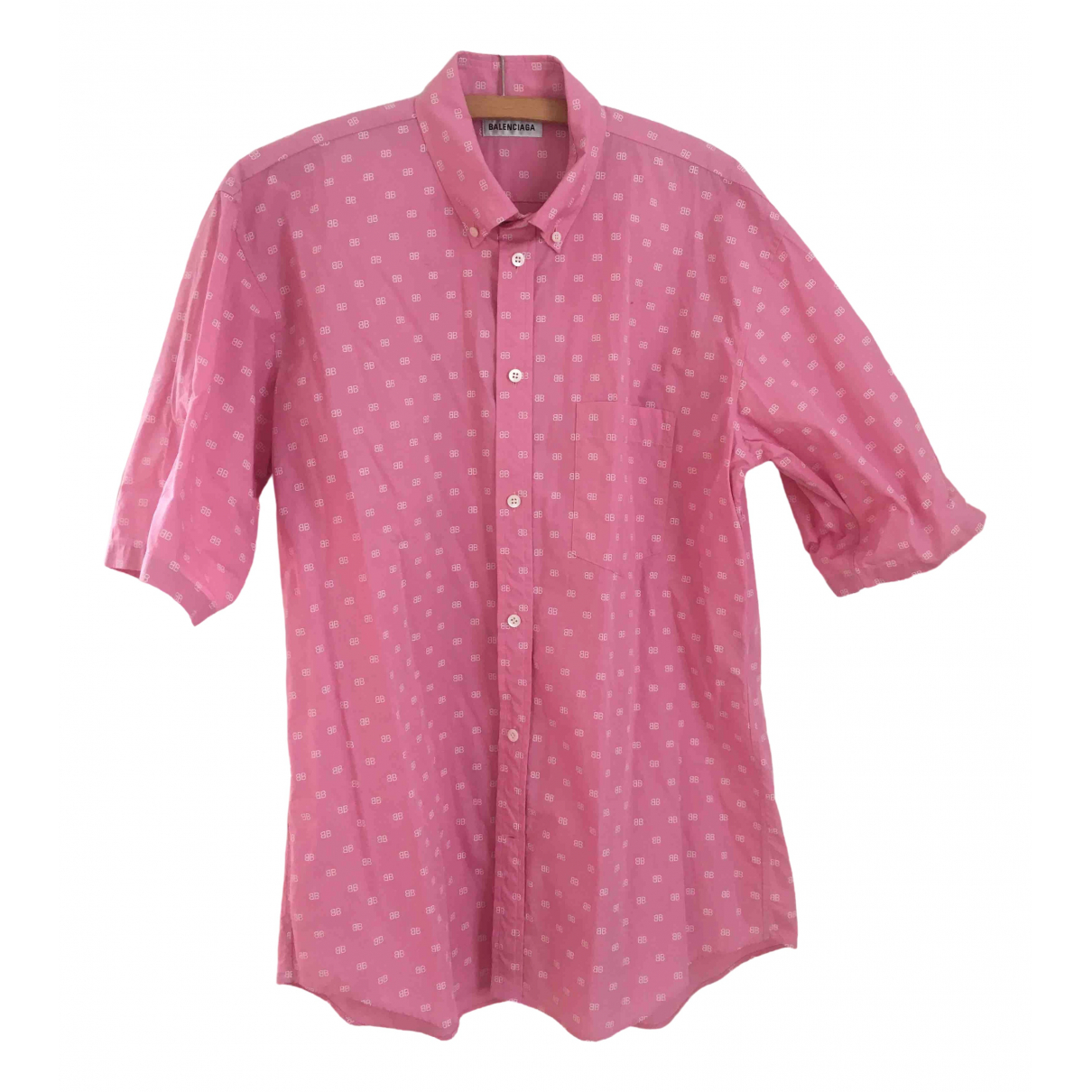 Balenciaga - Top   pour femme en coton - rose