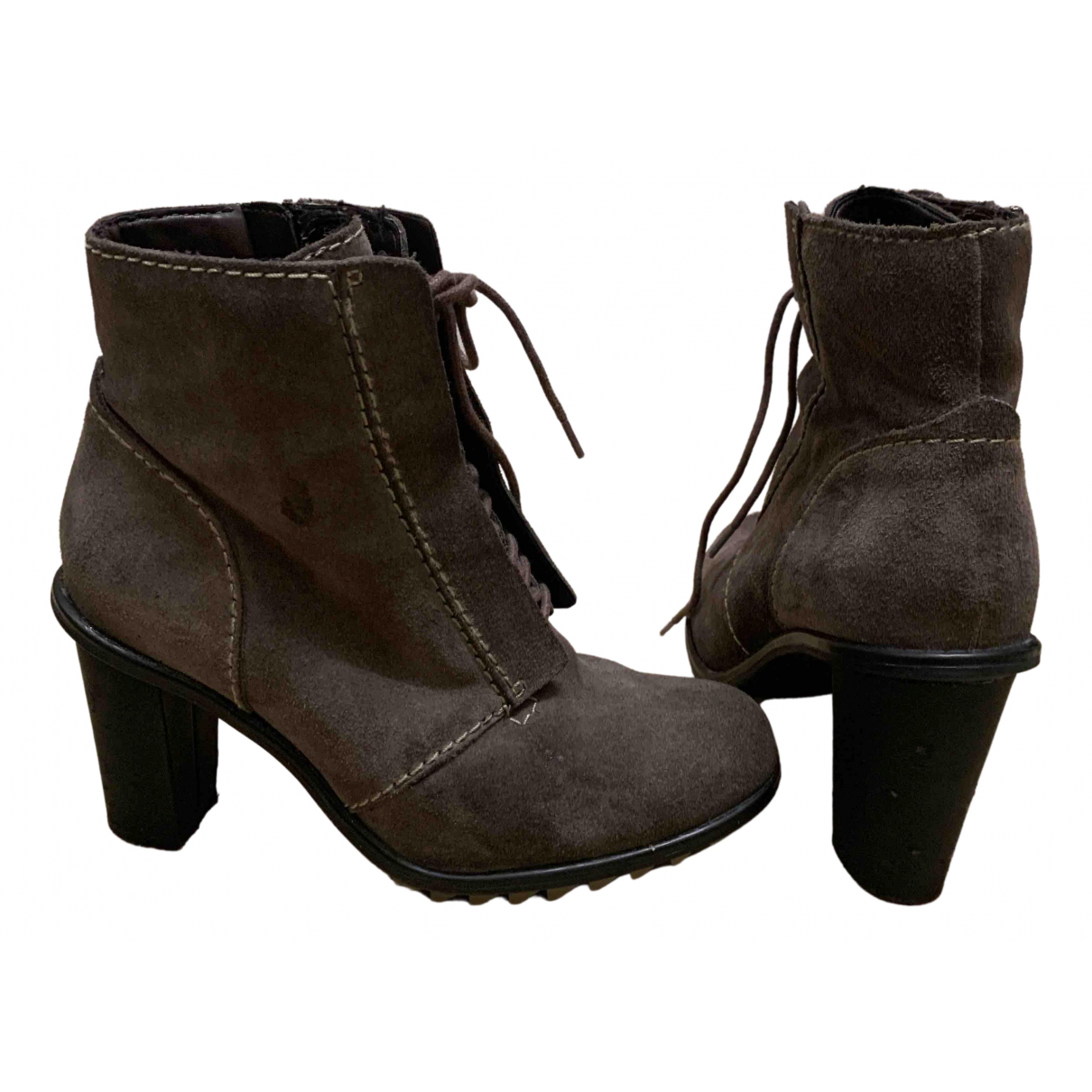 Clarks N Brown Suede Boots for Women 4 UK