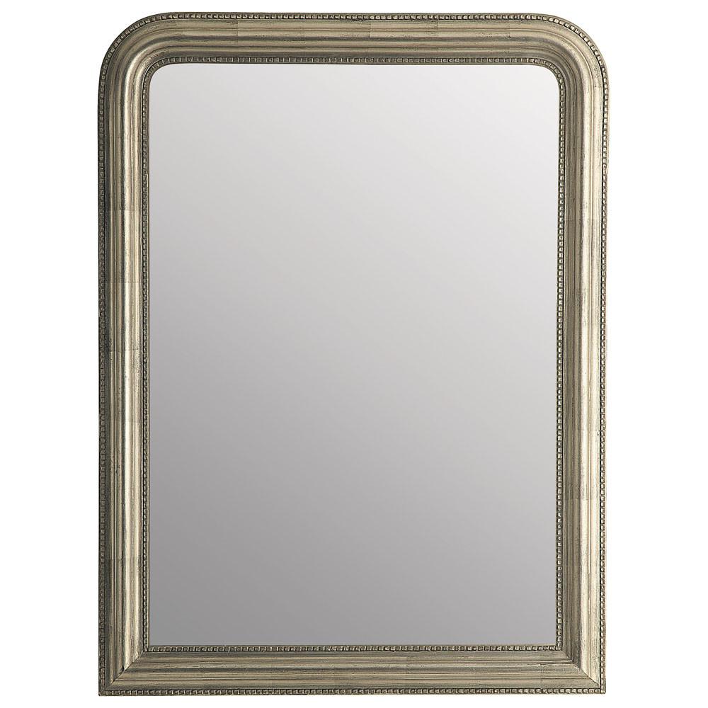 Champagnerfarbenen Spiegel aus Paulownienholz 90x120