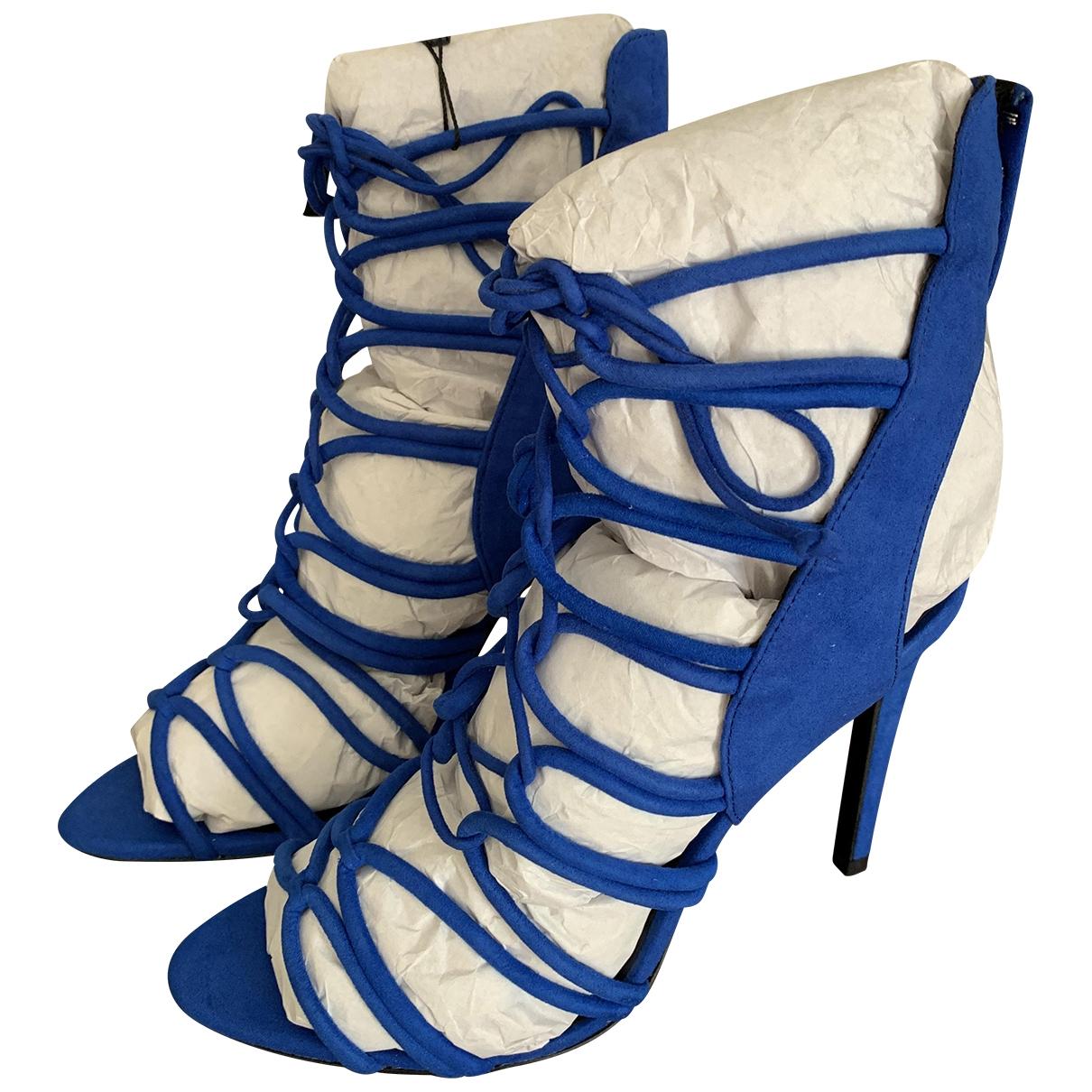 Zara \N Sandalen in  Blau Synthetikpelz