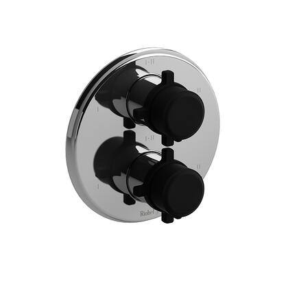 Momenti MMRD46+CBK 4- Way Thermostatic/Pressure Balance 0.75 Coaxial Complete Valve with Cross Handles  in