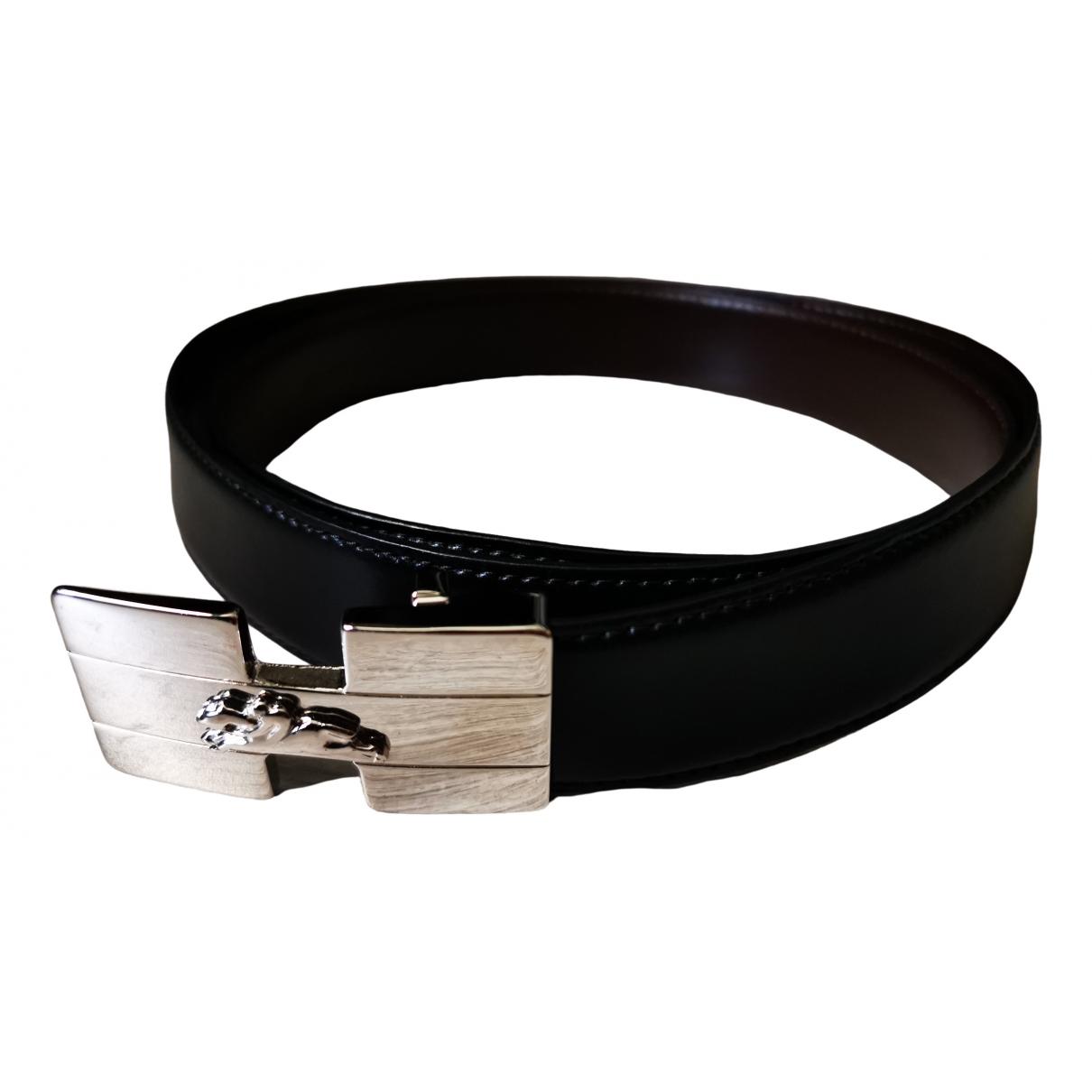 Longchamp \N Black Leather belt for Men 100 cm