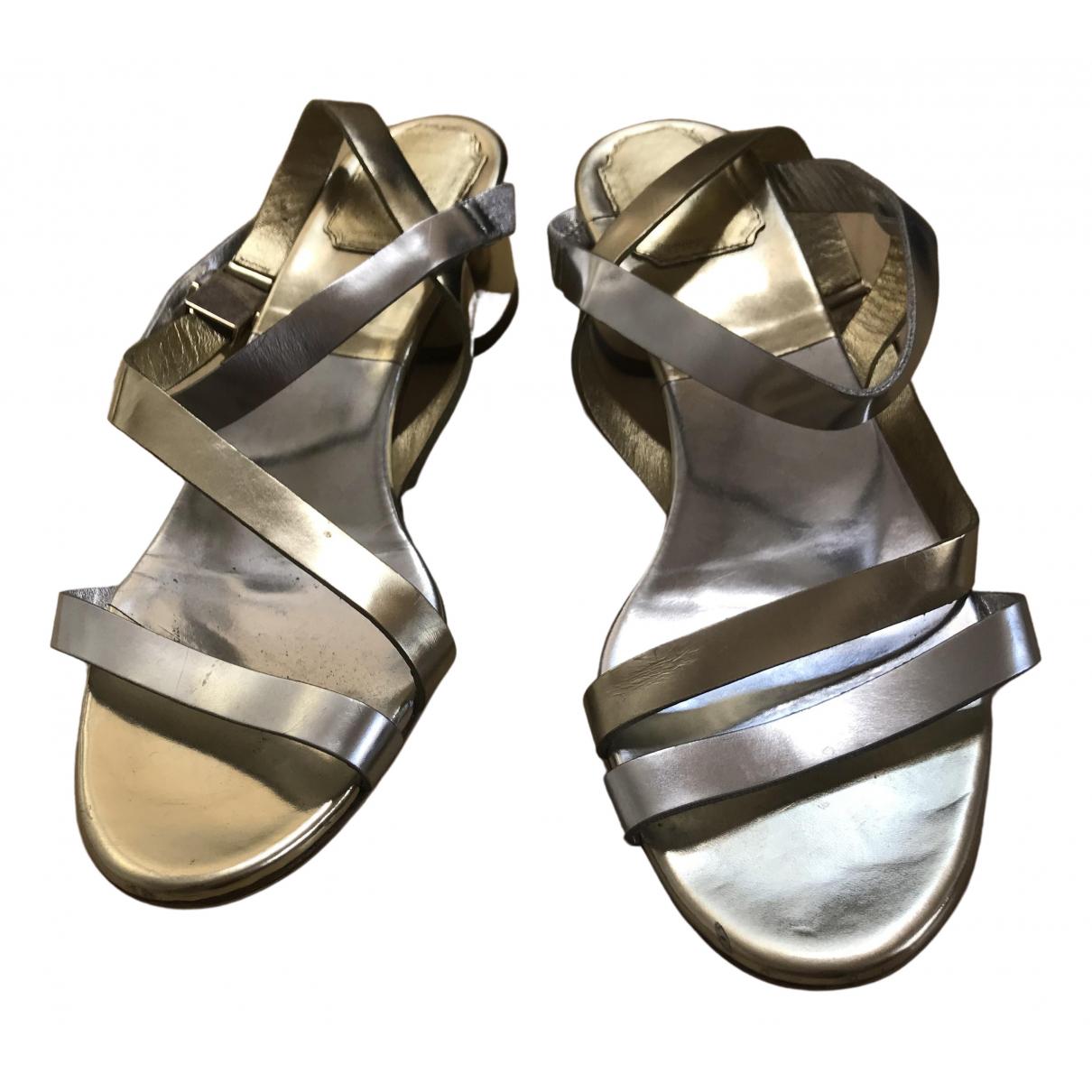 Dior \N Sandalen in  Metallic Leder